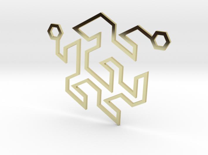 Gosper Pendant Double 3d printed
