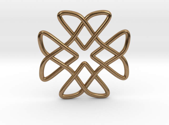 Two Doves Celtic Knot Pendant 3d printed