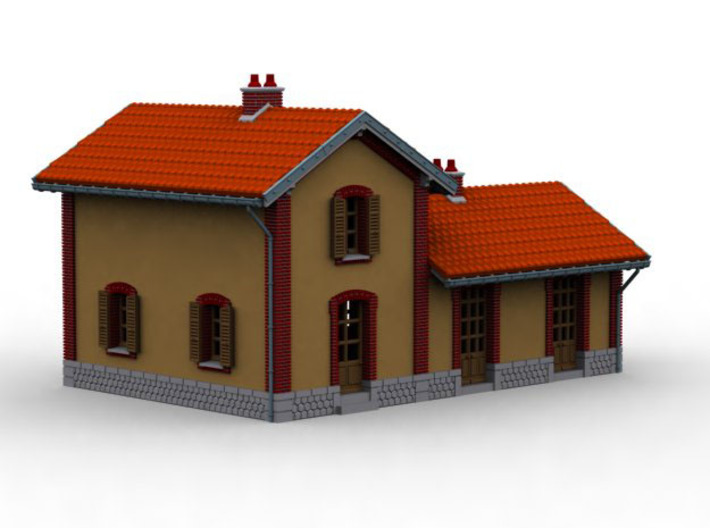 NGH11 Small train station 3d printed