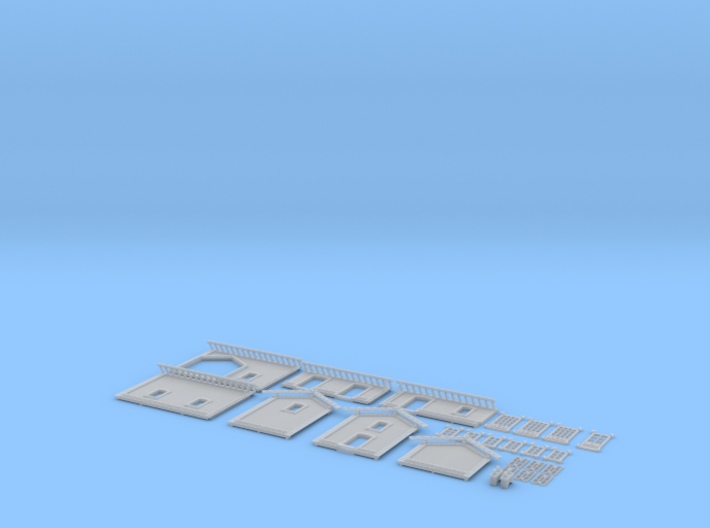 NGH12 Small train station 3d printed