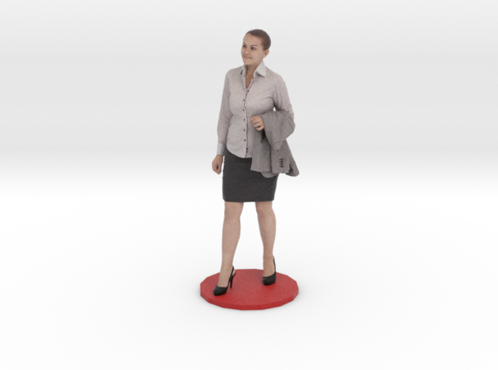 Business Woman 3d printed