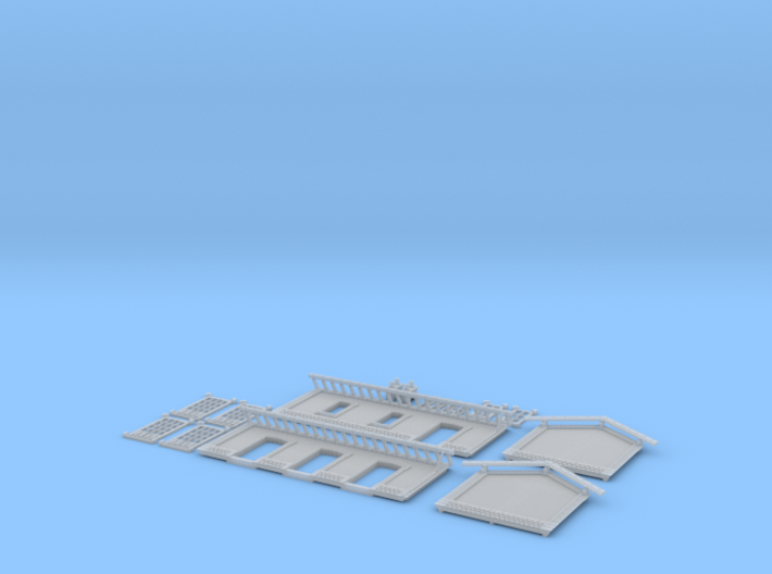 NGH21 Small train station 3d printed