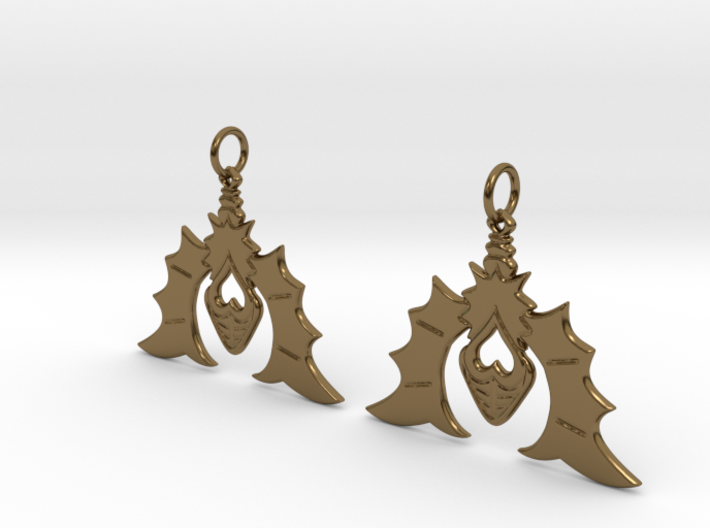 Batty For You Earrings 3d printed