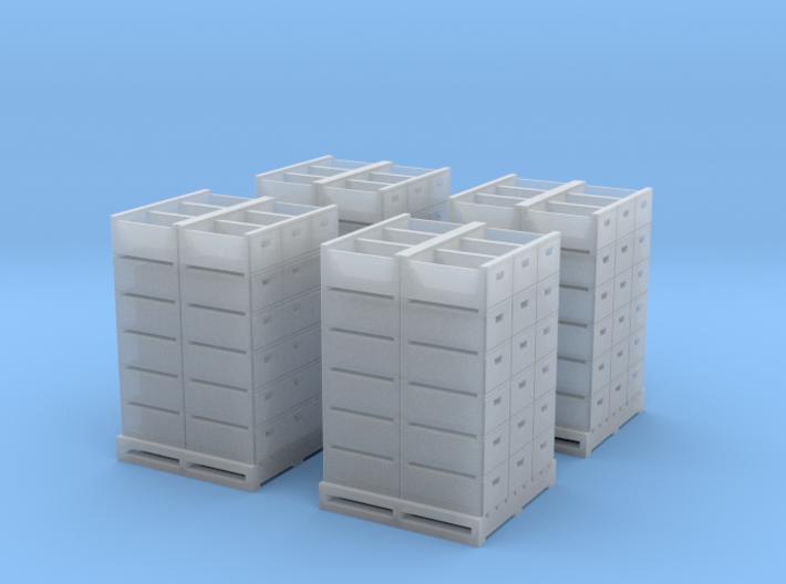 HO Citrus Field Lug Stacks x4 3d printed