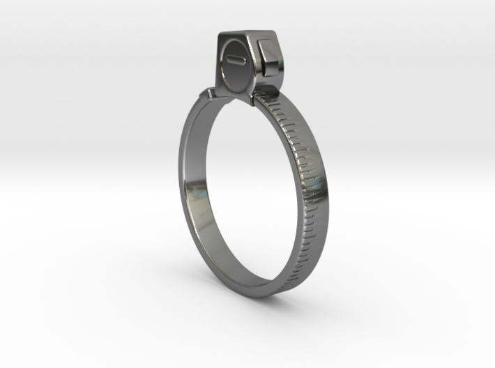 Tape Measure Ring - US Size 09.5 3d printed