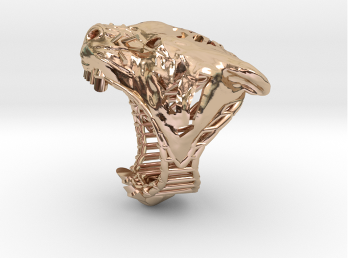 The Tiger Top Ring 3d printed