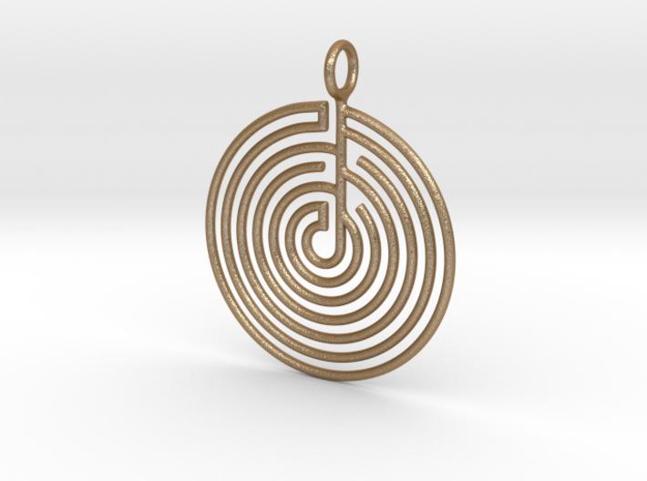 mystery little labyrinth Pendant 3d printed