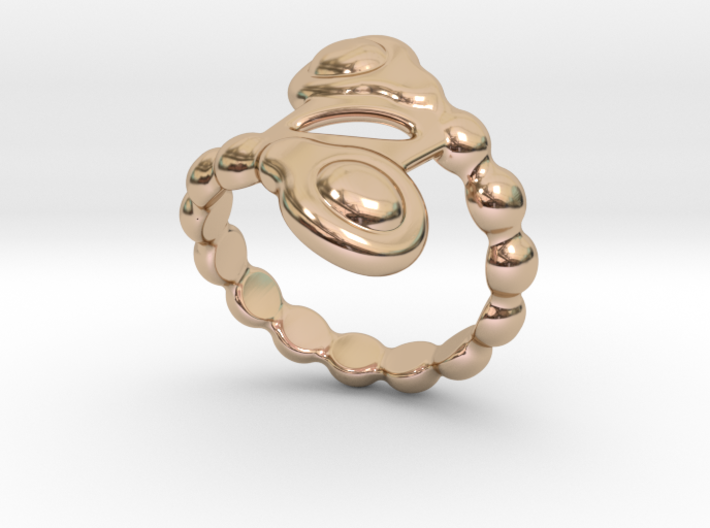 Spiral Bubbles Ring 22 - Italian Size 22 3d printed