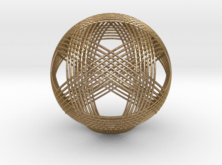 Icosahedron vertex symmetry weave 2 3d printed