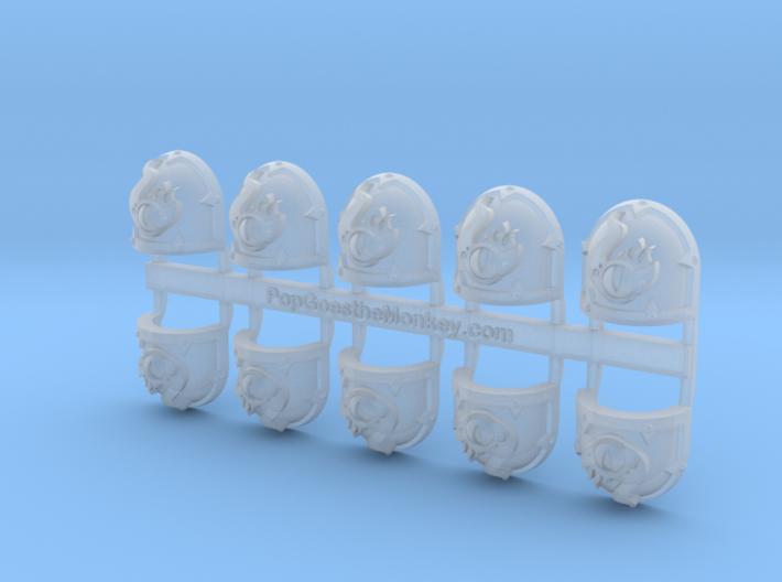 10x Eye of Change - Malice Shoulder Pads 3d printed