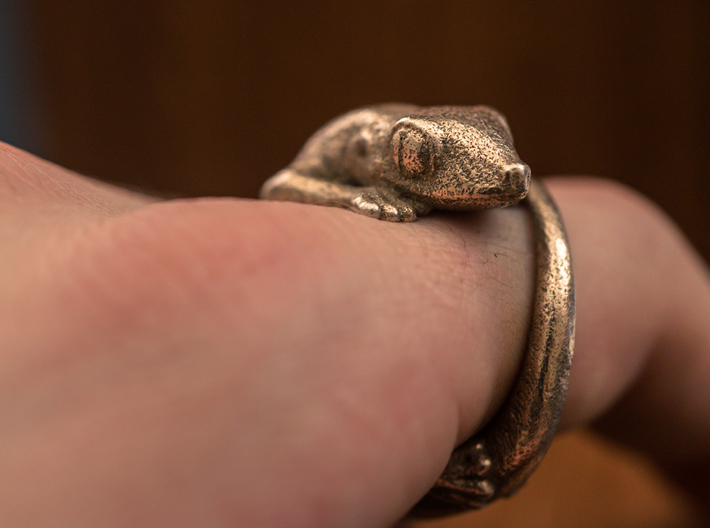 (Size 14) Gecko Ring 3d printed