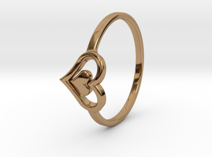 Heart Ring 7.5 3d printed