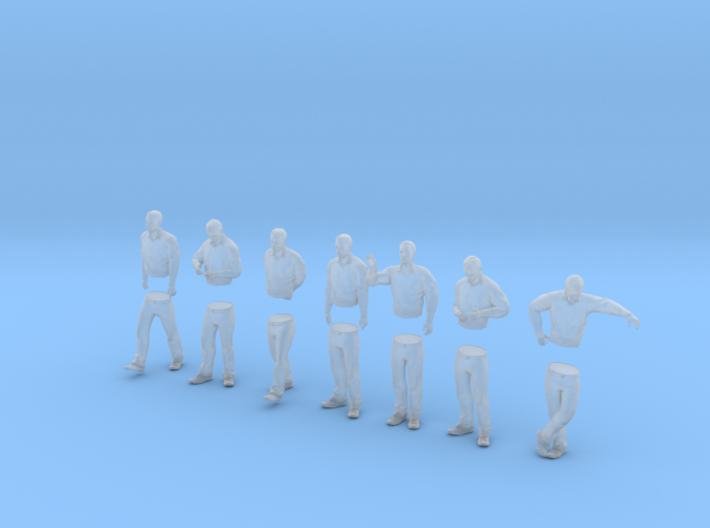 [1:76] Male set (multi-part) 3d printed