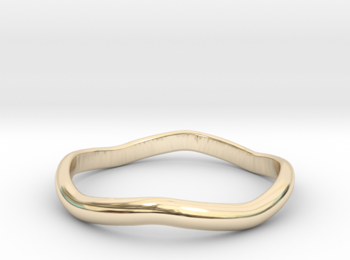 Ring Weaved Shape Design Size 6 3d printed