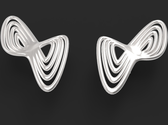WAVE Earrings (1 Pair) 3d printed the shiny silver material compliments the design
