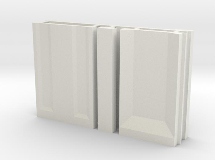 SciFi Pillar and Walls - Basic Wall Set 3d printed