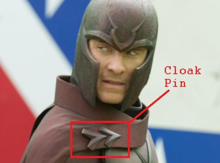 Magneto X-Men: Days Of Future Past cloak pin 3d printed