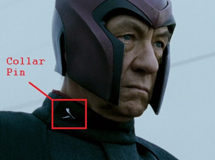 Magneto X-Men 2 Collar Pin (smooth) (closed)(1inch 3d printed