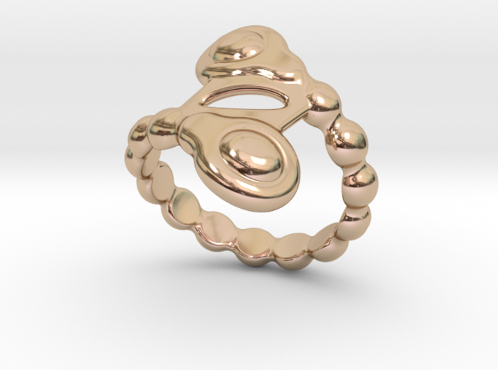 Spiral Bubbles Ring 28 - Italian Size 28 3d printed