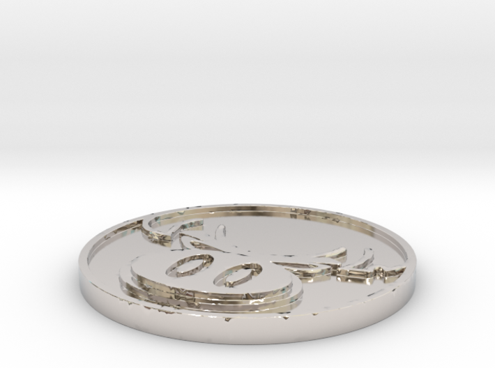 The Hate Project: HATE LOGO COIN 3d printed