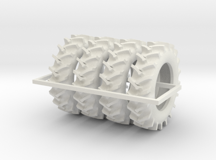 1/64 520/85R46 R2 X 4 tractor tires 3d printed