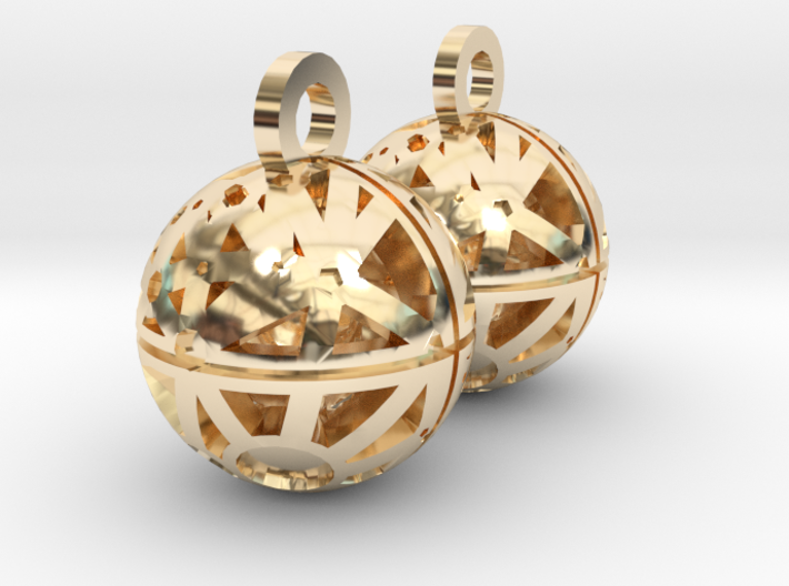 Craters of Ceres Earrings 3d printed