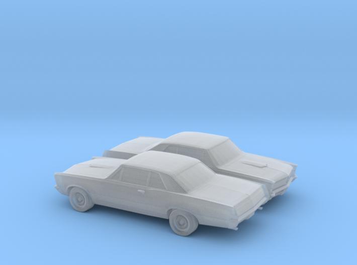 1/160 2X 1965 Pontiac GTO 3d printed