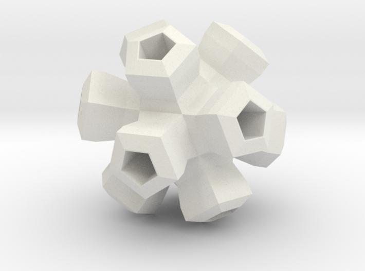Cauliflower Polyhedron Pendant 3d printed
