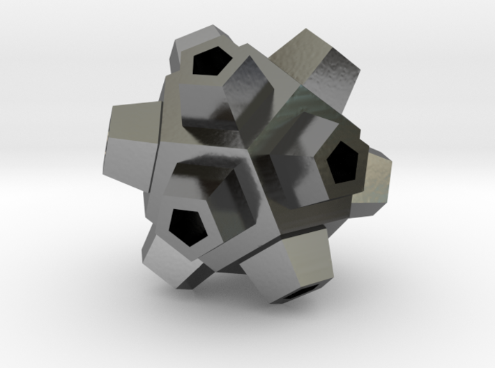 Mineral Polyhedron Pendant 3d printed