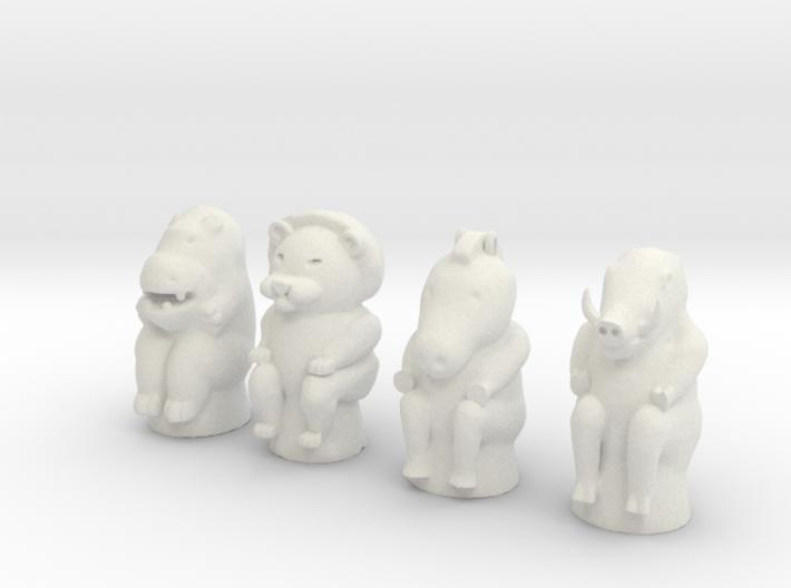 Animal Game Tokens 3d printed