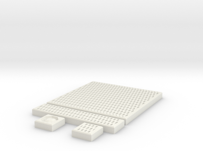 SciFi Tile 22 - Diamond Grating 3d printed