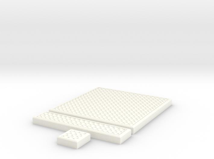 SciFi Tile 25 - Mesh Grating 3d printed