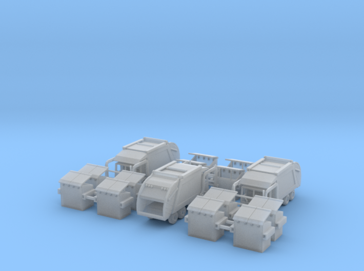 3 Garbage Trucks Z Scale 3d printed 3 garbage trucks Z scale