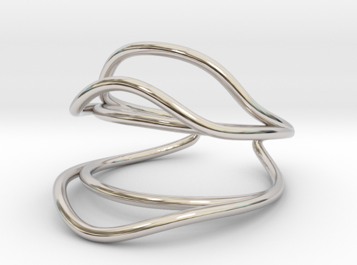 Dance Move Ring (Size 4.5--14.8mm dia)R S1 0201006 3d printed