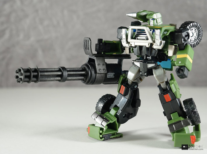 Transformers CHUG Minigun 3d printed Model has been painted and detailed