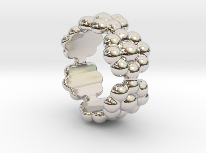 New Flower Ring 25 - Italian Size 25 3d printed
