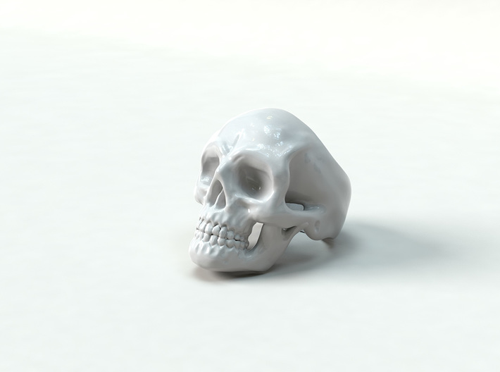 Skull Ring #9(US) 3d printed