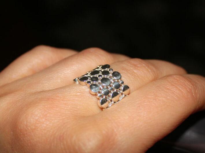 Wide band circle ring. 3d printed
