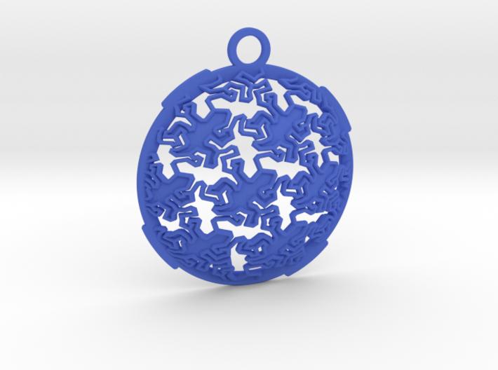 Reptile Pattern Pendant Interlocket FRONT (require 3d printed