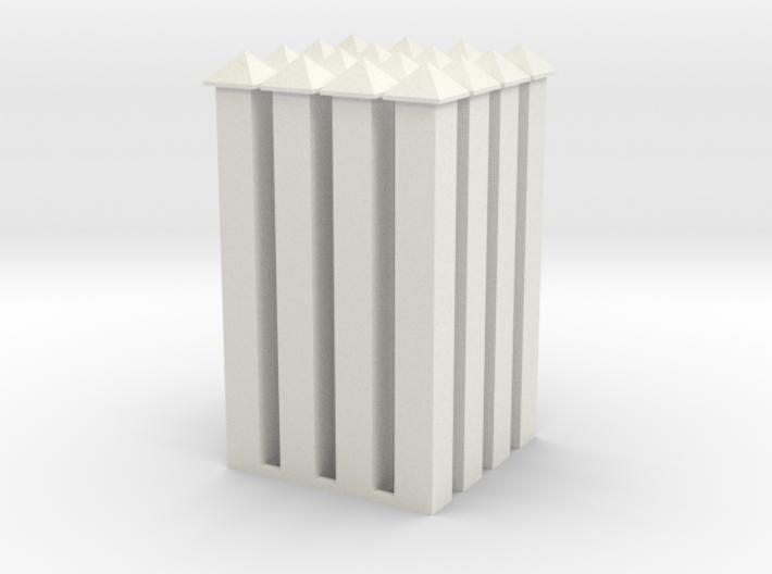 WallPost-new-hollow 3d printed