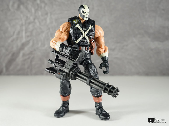 1:12 Minigun for Marvel Legends Crossbones 3d printed Model has been painted and detailed