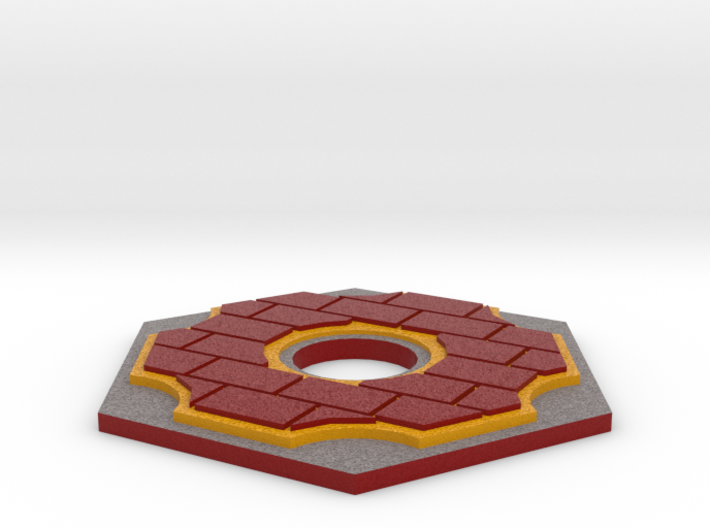 Catan Hex Tile Brick 79mm 3d printed