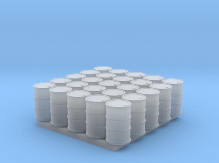 25 N/OO Scale Barrels 3d printed