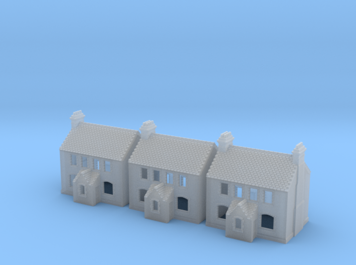 CNS Workers Cottage Set Of 3 - T-Gauge - 1:450 3d printed