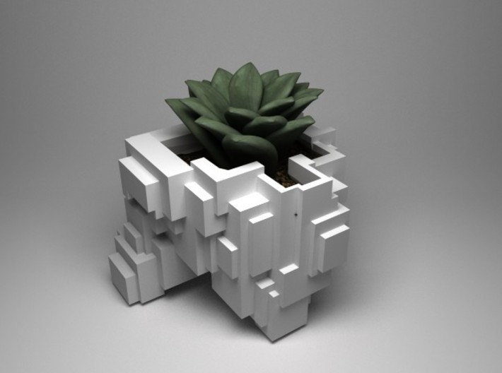 Busy Cubic planter 3d printed