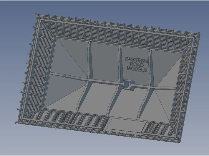 1904 Way Stn Roof Mirrored 3d printed