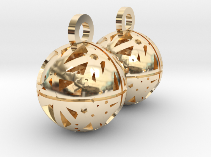 Craters of Tethys Earrings 3d printed