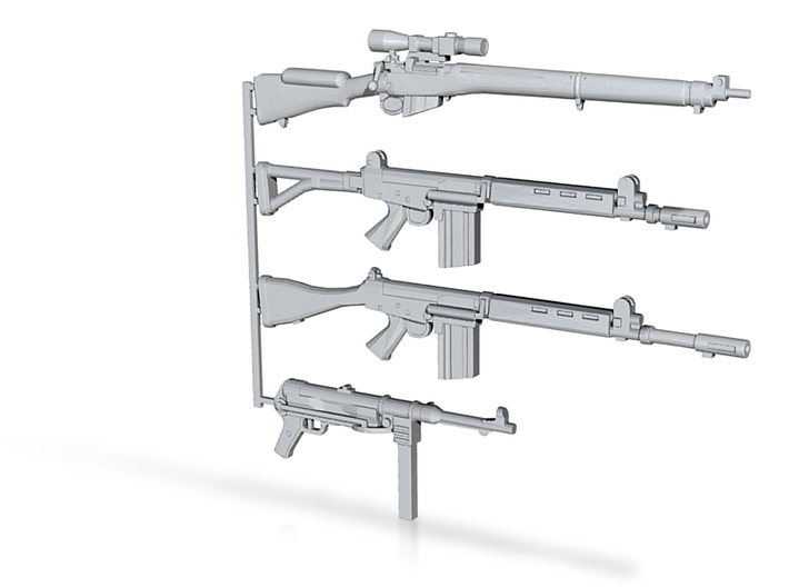 1/12 scale weapons set FN FAL MP-38 LEmk4 3d printed