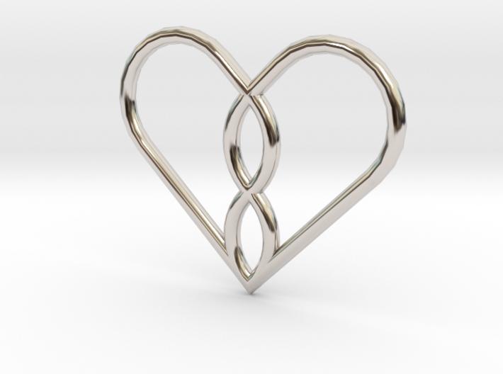 Infinity Heart Pendant Mini 3d printed