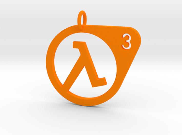 Half Life 3 Confirmed Pendant 3d printed